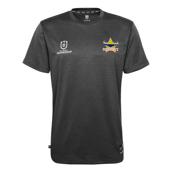 North Queensland Cowboys 2021 Mens Performance Tee, Black, rebel_hi-res