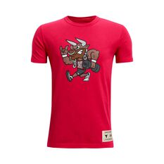 Under Armour Boys Project Rock SMS Tee Red/Black XS XS, Red/Black, rebel_hi-res