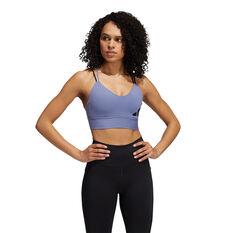 adidas Womens All Me Light Support Sports Bra Purple XS, Purple, rebel_hi-res
