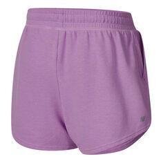 Ell & Voo Girls Judy Knit Shorts Purple 6, Purple, rebel_hi-res