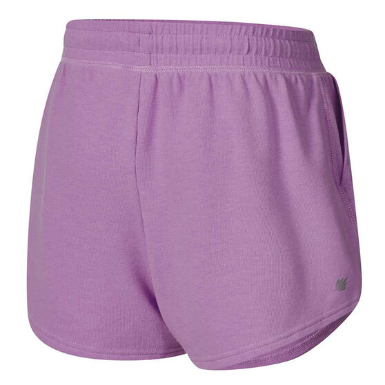 Ell & Voo Girls Judy Knit Shorts, Purple, rebel_hi-res