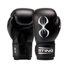 Sting Armafit Boxing Gloves Black / White S / M, Black / White, rebel_hi-res