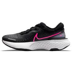 Nike ZoomX Invincible Run Flyknit Womens Running Shoes Black/Pink US 6, Black/Pink, rebel_hi-res