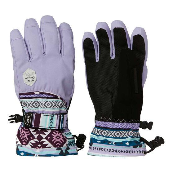 Rojo Womens Maximise Ski Gloves Purple / Black M, Purple / Black, rebel_hi-res