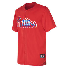 Philadelphia Phillies Mens Replica Jersey Red S, Red, rebel_hi-res