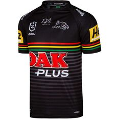 Penrith Panthers 2020 Mens Home Jersey Black S, Black, rebel_hi-res