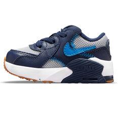 Nike Air Max Excee Toddlers Shoes Grey/Blue US 2, Grey/Blue, rebel_hi-res