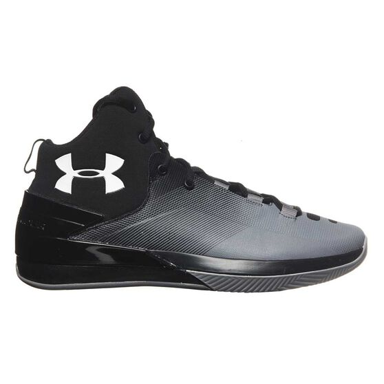 a627c32f8715 Under Armour Rocket 3 Mens Basketball Shoes Black   Grey US 10.5 ...