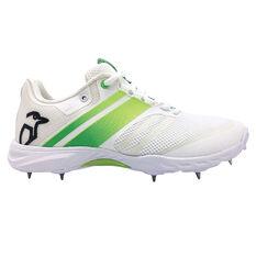 Kookaburra Pro 2.0 Cricket Shoes White/Lime US 8, White/Lime, rebel_hi-res