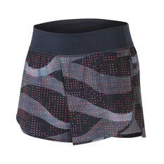 Ell & Voo Womens Ellie 2 in 1 Shorts Navy / Red XS, Navy / Red, rebel_hi-res