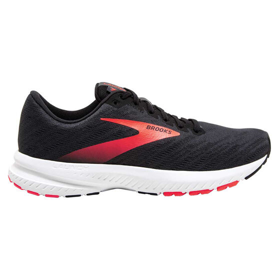 Brooks Launch 7 Womens Running Shoes, Grey/Coral, rebel_hi-res