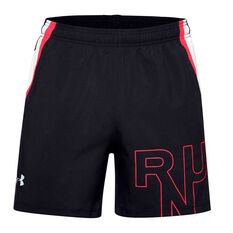 Under Armour Mens Launch SW Branded Shorts Black S, Black, rebel_hi-res