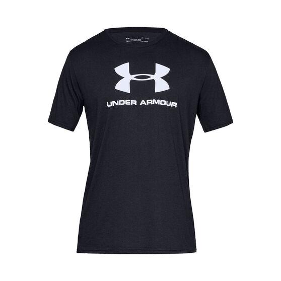 Under Armour Mens VT Sportstyle Logo Tee, Black, rebel_hi-res