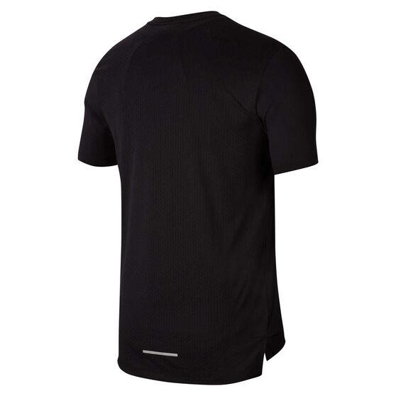 Nike Mens Dri-FIT Miler Future Fast Tee, Black, rebel_hi-res