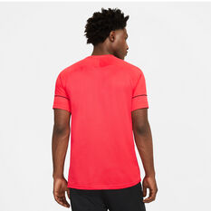 Nike Mens Dri-FIT Academy 21 Soccer Tee Red S, Red, rebel_hi-res