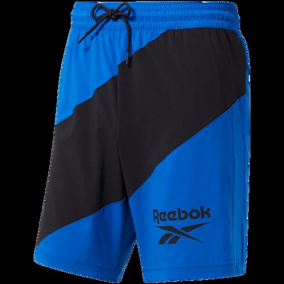 Reebok Mens Workout Ready Woven Graphic Shorts, Blue, rebel_hi-res