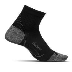 Feetures Plantar Faciitis Ultra Light Quarter Socks Black S, Black, rebel_hi-res