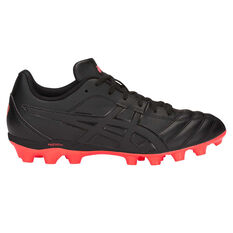 Asics Lethal Flash IT Kids Football Boots Black US 1, Black, rebel_hi-res