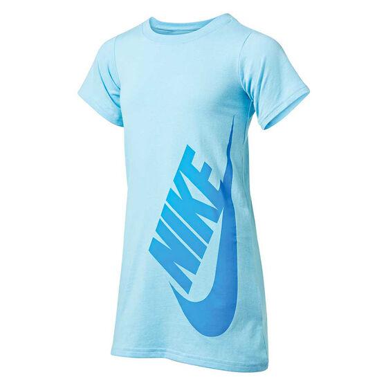 Nike Girls Sportswear T-Shirt Dress, Blue, rebel_hi-res