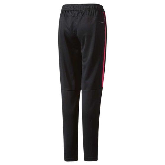 adidas Girls Tiro 17 Training Pants, Black / Pink, rebel_hi-res