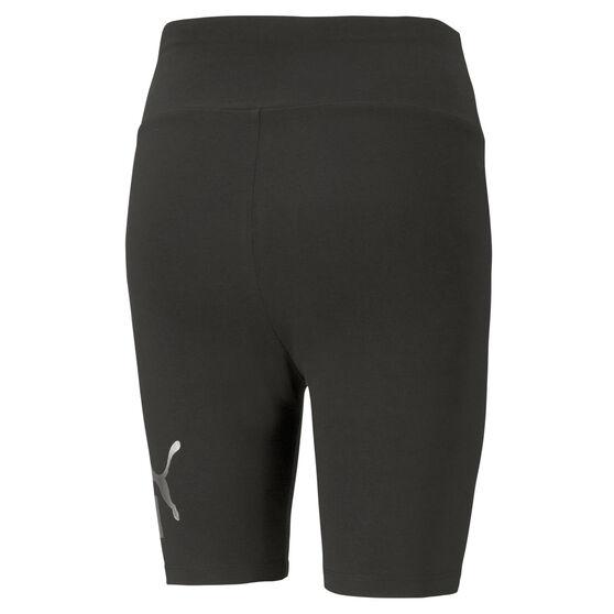 Puma Womens Essentials+ Metallic Shorts, Black, rebel_hi-res