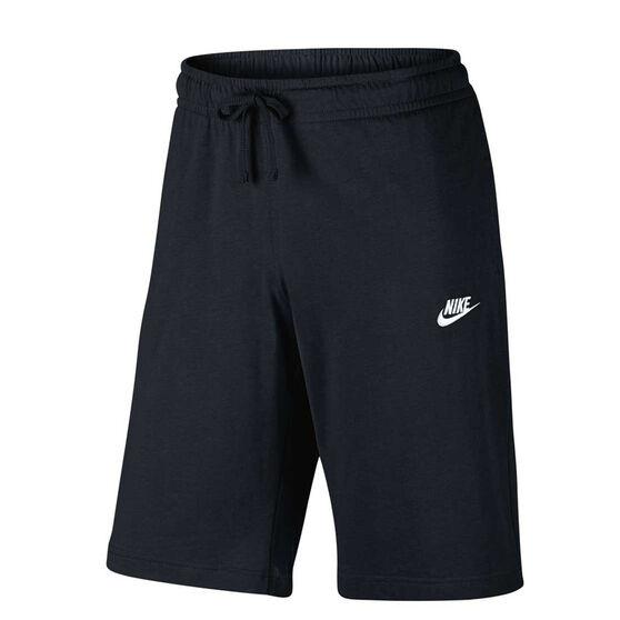 033f2555 Nike Mens Jersey Club Shorts Black / White M Adult, Black / White, rebel_hi