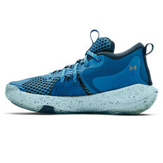 Under Armour Embiid 1 Kids Basketball Shoes Blue US 4, Blue, rebel_hi-res