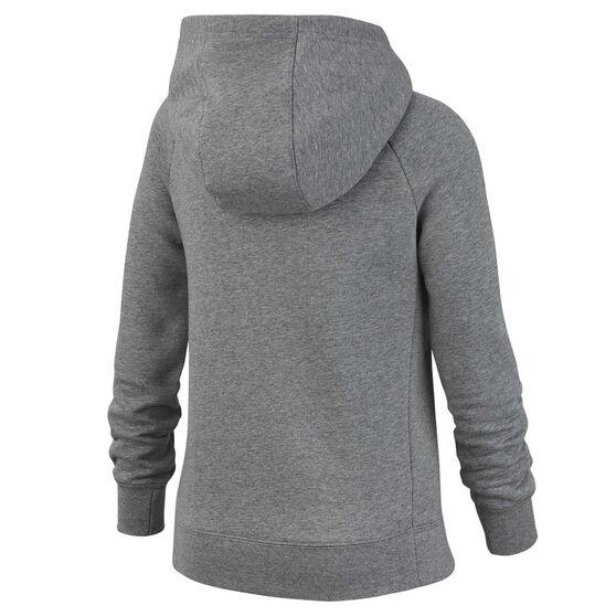 Nike Girls Sportswear Full Zip Hoodie, Grey, rebel_hi-res