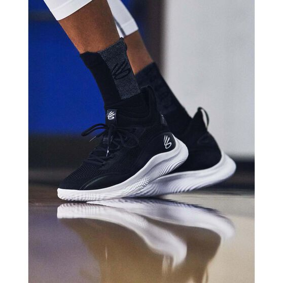 Under Armour Curry 8 Mens Basketball Shoes, Black, rebel_hi-res