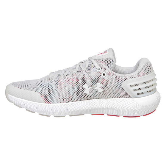 Under Armour Charged Rogue Womens Running Shoes, Grey / Pink, rebel_hi-res