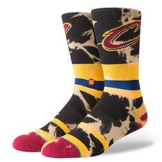 Stance Mens Cleveland Cavaliers Acid Wash Socks Multi M, Multi, rebel_hi-res
