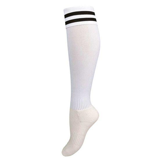 Burley Kids Football Socks, White  /  black, rebel_hi-res