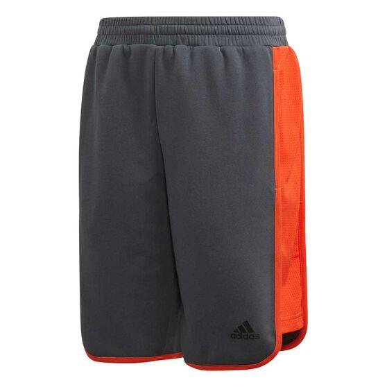 adidas Boys ID Shorts, Grey / Orange, rebel_hi-res