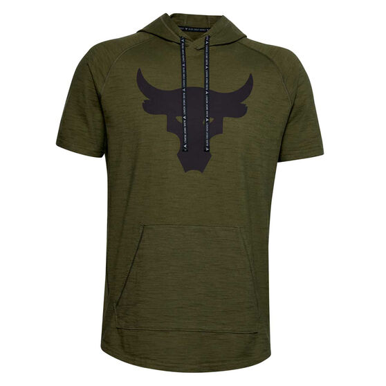 Under Armour Mens Project Rock Charged Cotton Hoodie, , rebel_hi-res