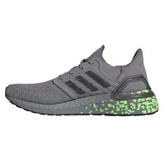 adidas Ultraboost 20 Mens Running Shoes, Grey/Green, rebel_hi-res