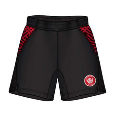 Western Sydney Wanderers Mens Supporter Training Shorts Black S, Black, rebel_hi-res