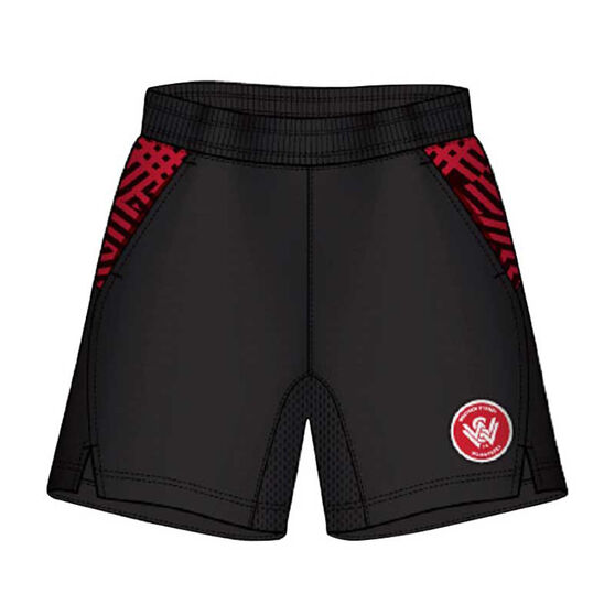 Western Sydney Wanderers Mens Supporter Training Shorts, Black, rebel_hi-res