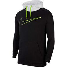 Nike Mens Dri-FIT Fleece Training Hoodie Black XS, Black, rebel_hi-res