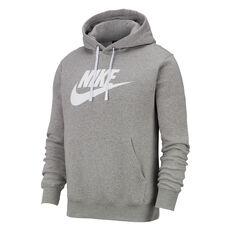 Nike Mens Sportswear Club Fleece Pullover Hoodie Grey XS, Grey, rebel_hi-res