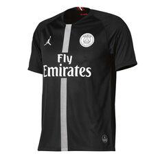 Paris Saint Germain FC 2018/19 Air Jordan Kids 3rd Jersey Black XS, Black, rebel_hi-res
