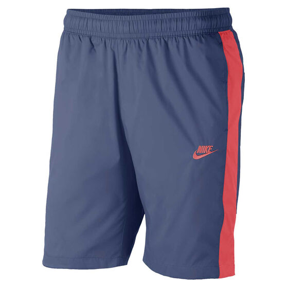 Nike Mens Sportswear Woven Track Shorts Navy S, Navy, rebel_hi-res