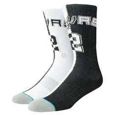 Stance Mens San Antonio Spurs Kawhi Leonard Split Jersey Sock, , rebel_hi-res