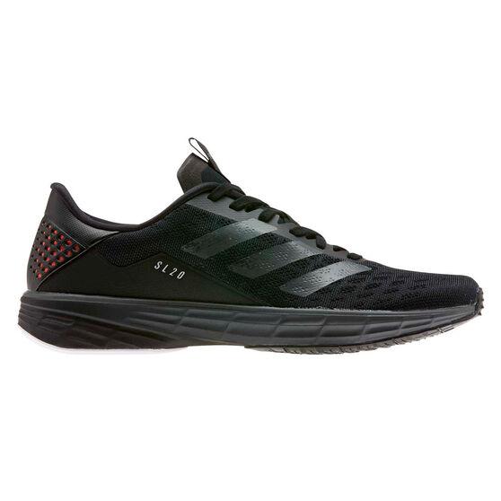 adidas SL20 Mens Running Shoes, Black/Grey, rebel_hi-res