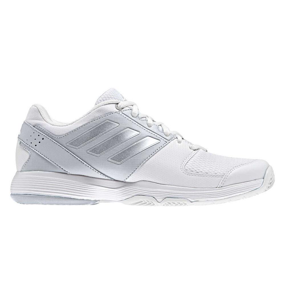 6f1fa51d60fc5d adidas Barricade Court Womens Tennis Shoes White   Silver US 8.5 ...