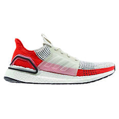 adidas Ultraboost 19 Mens Running Shoes White / Orange US 7, White / Orange, rebel_hi-res