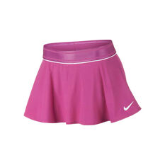 Nike Girls Court Dri-FIT Tennis Skirt Pink / White XS, Pink / White, rebel_hi-res