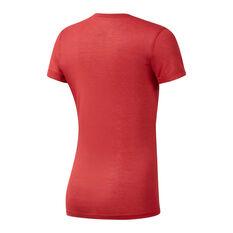 Reebok Womens CrossFit F.E.F Tee Red XS, Red, rebel_hi-res