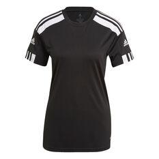 adidas Womens Squadra 21 Football Jersey Black XS, Black, rebel_hi-res