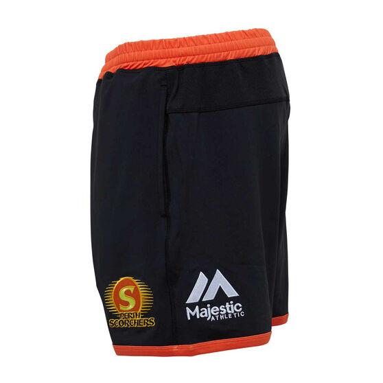 Perth Scorchers 2019/20 Mens Training Shorts, Black, rebel_hi-res