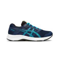 Asics Contend 5 Kids Running Shoes Navy / White US 4, Navy / White, rebel_hi-res